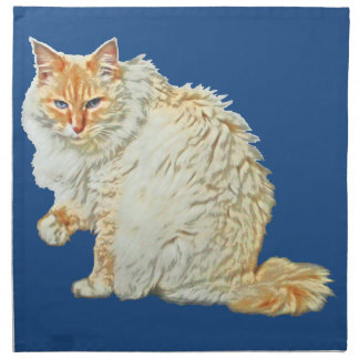 Flame point siamese cat 2 napkin