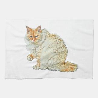 Flame point siamese cat 2 tea towel