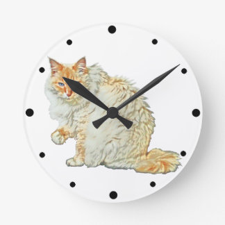 Flame point siamese cat 2 wall clock