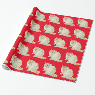 Flame point siamese cat 2 wrapping paper