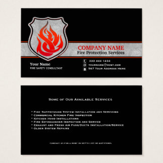 Flame Shield Fire Protection Business Card