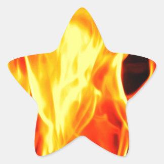 Flame Star Sticker