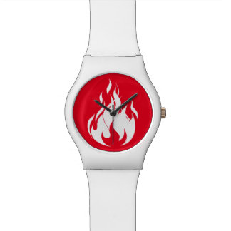 Flame Watch (White n Red)