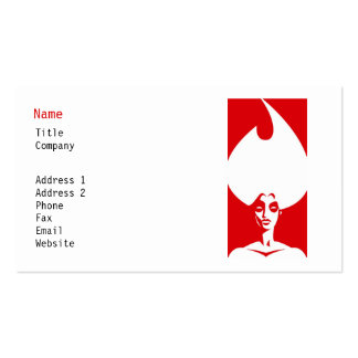 Flame Woman Business Card Template
