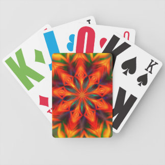 Flamed Kaleidoscope Card Deck Bicycle Playing Cards