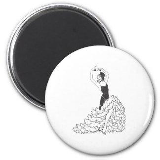 Flamenco_.ai 6 Cm Round Magnet