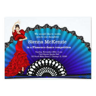 Flamenco dance 13 cm x 18 cm invitation card