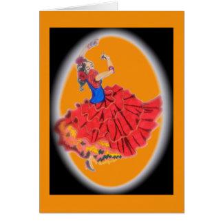 Flamenco Dancer Card