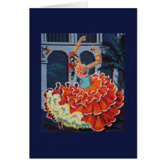 Flamenco Dancer Card