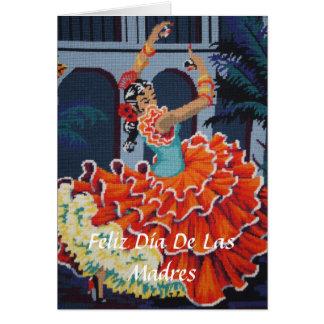 Flamenco Dancer Feliz Día De Las Madres Card