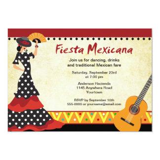 Flamenco Dancer Fiesta Invitation