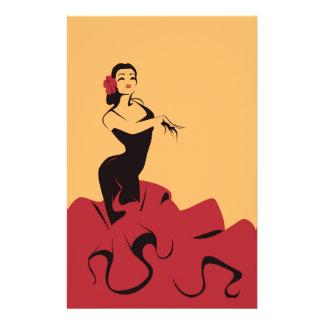 flamenco dancer in a spectacular pose flyer