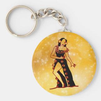Flamenco dancer key ring