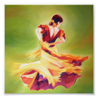 Flamenco Dancer Mini Poster