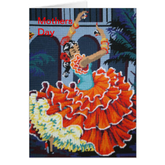 Flamenco Dancer Mother Day Card