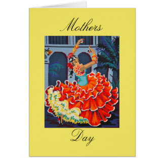 Flamenco Dancer Mothers Day Card