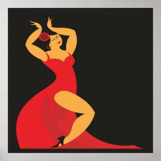 Flamenco Dancer Poster Lg.