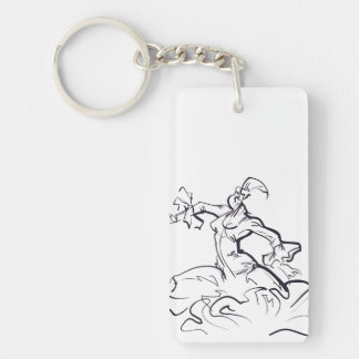 Flamenco dancer sketches key ring