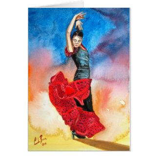 FLAMENCO DANCER watercolour Card