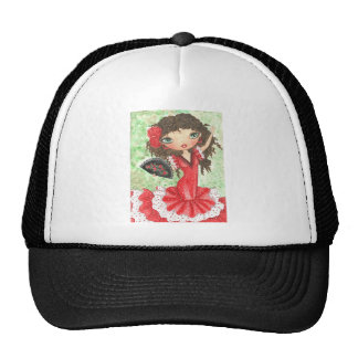 """Flamenco Dancer with Fan"" Cap"