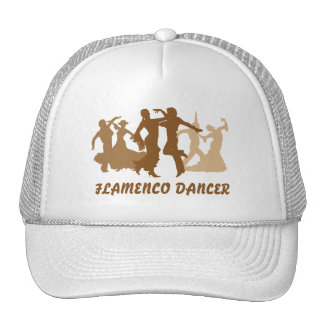 Flamenco Dancers Illustration Hats