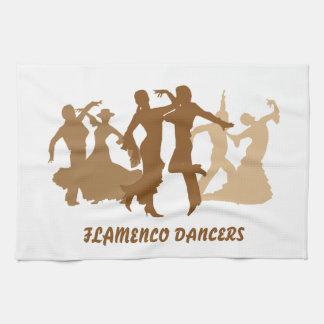 Flamenco Dancers Illustration Towels