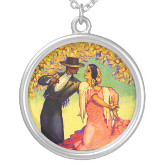 Flamenco Dancers under the Orange Trees Necklace