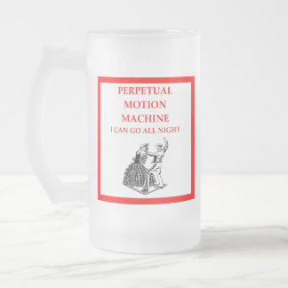flamenco frosted glass beer mug
