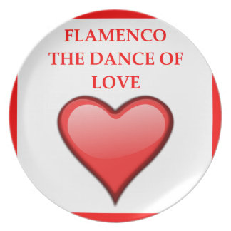 FLAMENCO PARTY PLATE