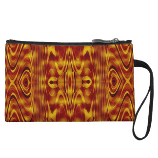 Flames Abstract Wristlet Clutch