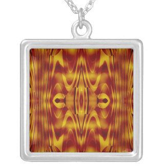 Flames Abstract Silver Plated Necklace