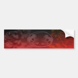 Flames and Skulls Sticker Bumper Sticker
