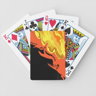 Flames at Night Bicycle Playing Cards