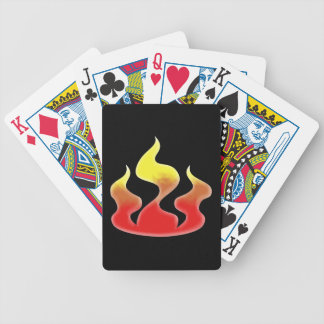 Flames Bicycle Playing Cards