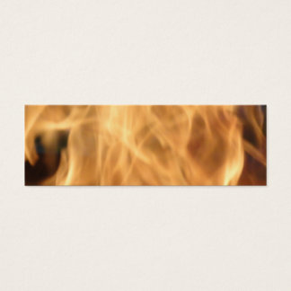 Flames Bookmark Mini Business Card