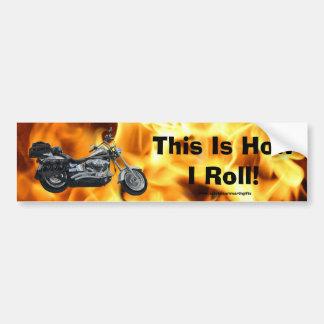 Flames & Cool Motorbike Power Machine Rider Gear Bumper Sticker