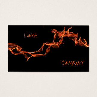 Flames Custom Personalized Business Card