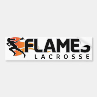 Flames Lacrosse Bumper Sticker