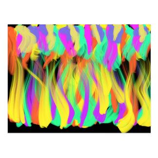 Flames Many Colours Worship Art 5th Jan 2018 ESSL Postcard