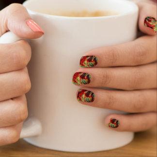 Flames Mosaic Fractal Nails Sticker