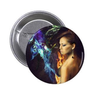 Flames of Fashion Pinback Button
