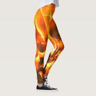 flames of gold leggings