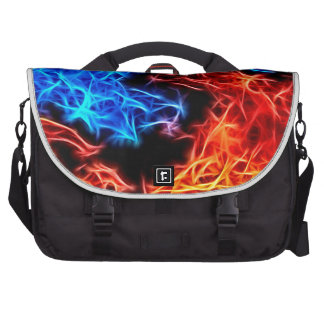 flames of good and evil laptop commuter bag