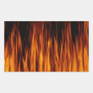 flames rectangular sticker
