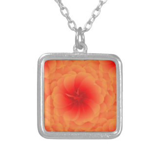 Flame's Rose Silver Plated Necklace