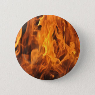 Flames - Too Hot to Handle 6 Cm Round Badge