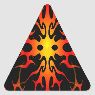 Flames Tribal Tattoo Red and Yellow Triangle Sticker