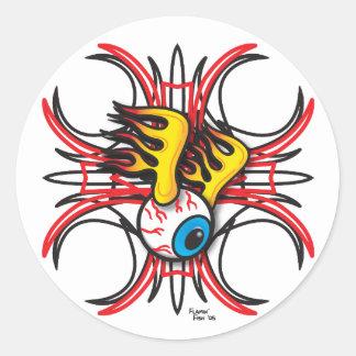 Flamin' Eye Sticker