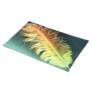 Flamin' Feather Placemat