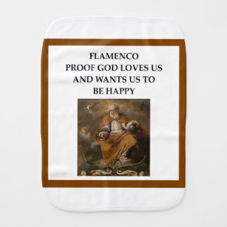 flaminco baby burp cloth